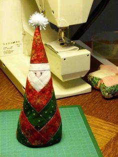 Christmas Santa Claus Log cabin Père Noël en tissu - Le blog de Pom