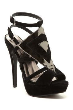 Catti Diamond Platform Pump by Elegant Footwear