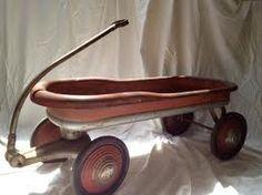 Vintage Red Metal Wagon 1930's