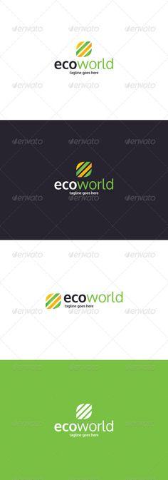 Eco World  Logo Design Template Vector #logotype Download it here: http://graphicriver.net/item/eco-world-logo/8336780?s_rank=1376?ref=nesto