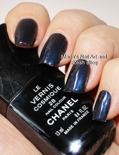 Chanel Cosmique 28 Chanel Nail Polish, Chanel Nails, Love Nails, Fun Nails, Long Nail Art, Nail Art Blog, Makeup Needs, Nail Jewelry, Nail Colors