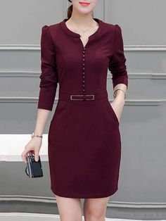 Fashion Tips Outfits .Fashion Tips Outfits Elegant Dresses, Pretty Dresses, Casual Dresses, Classy Work Outfits, Classy Dress, Work Dresses For Women, Clothes For Women, Dress Outfits, Fashion Outfits