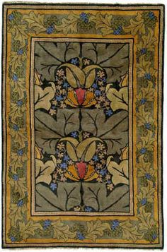 Arts and Crafts Rug Charles Voysey Rug Design: Lily  Vine.