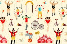 Circus collection. by Moloko88 on @creativemarket