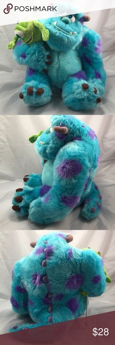 """Disney Parks Monsters Inc Sulley w/ Mike Puppet This is a very nice previously loved plush of Monster's Inc. Sulley w/ Mike puppet. It is 12"""" tall. There are no stains, no rips, no holes and is from a pet free and smoke free home. See pictures for condition. Disney Other"""