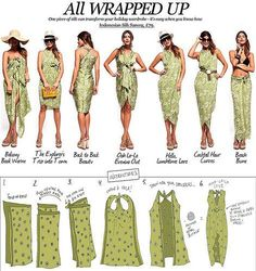 How to tie a dress, beach swim cover up, Pareo, beach cover, sarong Sarong Dress, Sarong Wrap, Scarf Dress, Diy Dress, Sarong Tying, How To Wear Belts, Ways To Wear A Scarf, How To Wear Scarves, Knit Scarves
