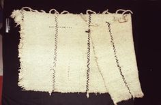 This Lukwungen blanket was woven of dog hair or Mountain Goat wool, Stinging Nettle fibre, and feathers.