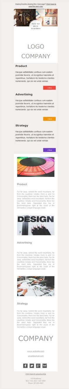 Plantilla newsletter para agencias de Marketing y Publicidad adaptada al smartphone con el diseño responsive, una funcionalidad más de la aplicación Mailify.