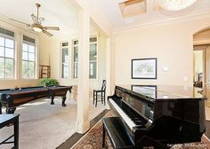 Piano and Pool Table