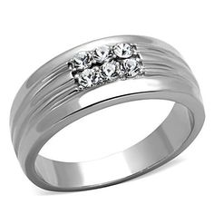 Men or Ladies 1TCW Russian Lab Diamond Wedding Bands Ring