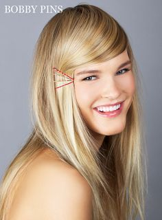 Ideas for Hairstyles with Bobby Pins - How to Use Bobby Pins - Marie Claire