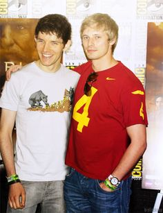 Bradley James and Colin Morgan from Merlin BBC