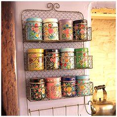 Hand Painted Kashmiri Storage Tins