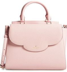 Currently crushing on this pink Kate Spade satchel with a scalloped edge for a feminine touch.