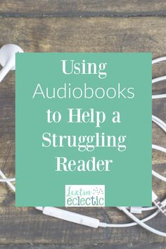 How can you help a child who is struggling to read? I've discovered that audiobooks have been one of the biggest assets to help my struggling reader. Reading Tips, Reading Resources, Teaching Reading, Learning, High School Reading, Best Audiobooks, Homeschool Curriculum, Homeschooling, Struggling Readers