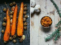 Paté vegetal de zanahoria, aceitunas, ajo y romero con crackers caseros. Receta vegana, vegan recipe