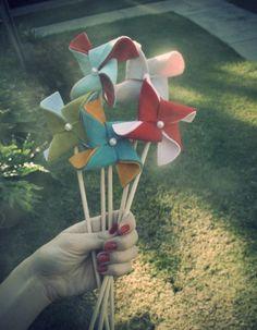 Tutorial felt pinwheels