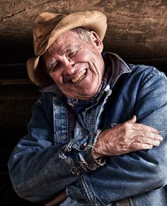 the generations that came before us.   Light of Heart...love this picture.  I don't know who this man is but I love his sweet smile.  He looks like an honest, giving man with years of knowledge behind the wrinkles and gray hair.  I would love to have cowboys like him work on my ranch. I love this man who I've never met.