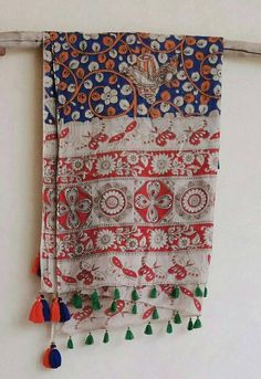 Items similar to block printed cotton long scarf / boho scarf/kalamkaari wrap/stole/tassel scarf/indian print scarf/indian print wrap on Etsy Ancient Indian Art, Bohemian Rug, Boho, Indian Prints, Handmade Scarves, Used Parts, Print Wrap, Long Scarf, Printed Cotton