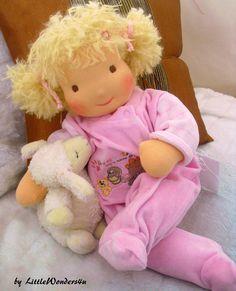 Big 19 inch Baby doll Waldorf Doll Cloth doll. $150.00, via Etsy.