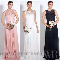 Lace Bridesmaid Dress at White Runway