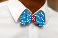 Dice bow tie (I wonder if it would work with D20's.....?)