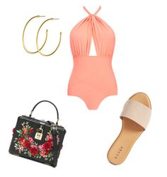 """""""🏊🏽♀️Pool Party 🎉"""" by milliebeth84 on Polyvore featuring Lilliput & Felix, Hinge, Dyrberg/Kern and Dolce&Gabbana"""