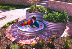 Designing a kid-friendly backyard can be fun with these great ideas. We want to play in that awesome sandbox! http://www.houzz.com/ideabooks/21729401/list/9-ways-to-make-your-yard-more-fun-for-kids