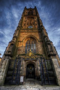 """Derby Cathedral Tower"" by Yhun Suarez. Derby, England."