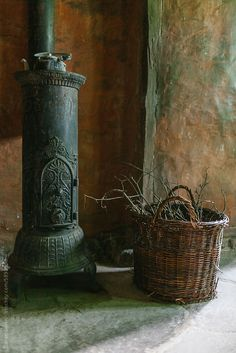 woodburner primitive Fireplace by Zoran Djekic
