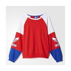 Sweat-shirt LA Crew ($36) ❤ liked on Polyvore featuring tops, hoodies, sweatshirts, red crewneck sweatshirt, red sweatshirt, crew top, crew-neck sweatshirts and red top