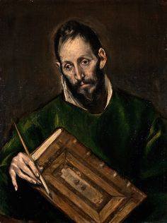 "El Greco (Domenikos Theotokopoulos) (Greek, Iráklion (Candia) 1540/41–1614 Toledo). Saint Luke, ca. 1600–1605. The Metropolitan Museum of Art, New York. On loan from The Hispanic Society of America, New York, NY | This work is featured in ""El Greco in New York,"" on view through February 1, 2015. #mustache #movember"