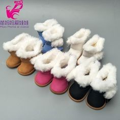 18Inch Dolls White Snow Boots Shoes Doll Accessory Gift VANJ
