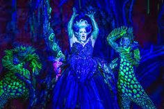 theatre set design water little mermaid - Google Search. Black light in ursulas cave