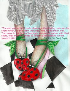 Ladybug shoes! Unique Settings, Black Spot, Ladybug, Christmas Stockings, Author, Silk, Holiday Decor, Drawings, Dogs