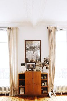vintage-inspired wood cabinet. / sfgirlbybay