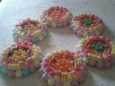 6 tartas de chuches pequeñas