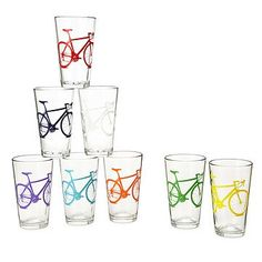 Find unique glassware at UncommonGoods. From unusually shaped wine glasses to colored glass tumbler sets, we carry items for every aesthetic. Cute Gifts, Unique Gifts, Best Gifts, Bicycle Decor, Bicycle Art, White Elephant Gifts, Boyfriend Gifts, Drinking, Glasses