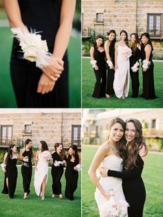 If I ever have a wedding I'm so doing this!  Corsages instead of bouquets!
