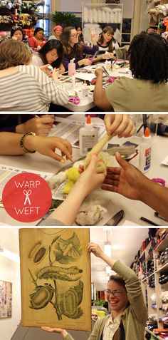 Pictures from our last Warp x Weft: Textile 101 workshop last month. Everyone seemed to love learning about fibers. Don't worry if you missed it. Warp x Weft happens every month at Britex.