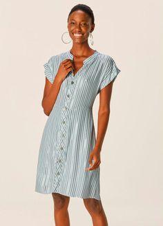 Camisa Formal, Ideias Fashion, Shirt Dress, Shirts, Dresses, Products, Seersucker Dress, Business Professional Dress, Openness