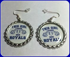 Kansas City Royals This Girl Earrings Unique Custom Made Sports & Themed Jewelry nfl mlb nhl nba ncaa, MLB Earrings by SportsnBabyCouture on Etsy