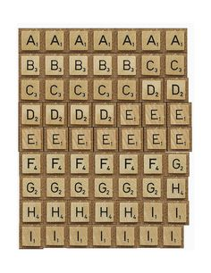Tutorial - Faux Scrabble Letters to print out - Swirlydoos Monthly Scrapbook Kit Club