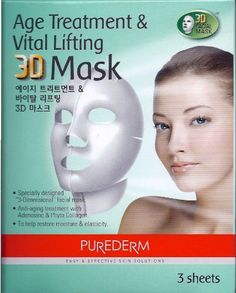 PUREDERM Age Treatment & Vital Lifting 3D Mask - 3 Sheets by Purederm. $12.99. Anti-aging treatment with Adenosine & Phyto Collagen. Specially designed 3D facial mask. To help restore moisture & elasticity. Specially designed 3D facial mask Anti-aging treatment with Adenosine & Phyto Collagen To help restore moisture & elasticity