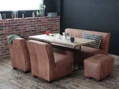 CRASH GATE Knot antiques GRIT Ⅱ TABLE 1400 #industrial #diningroom #sofa #table  #leather #cozy #home #house #inspiration #ideas