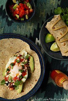 Huevos Rancheros Breakfast Burrito - healthy, frugal, and flavorful