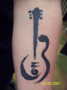 Znalezione obrazy dla zapytania guitar symbol tattoo