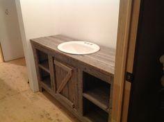 Diy barnwood bathroom vanity