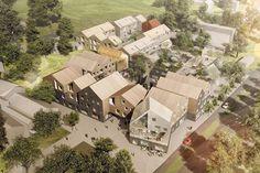 Slik vil Sunnhetsgrenden i Randaberg bli i framtiden. Foto: 3RW arkitekter/NORD Architects/NODE
