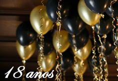 11 inch Gold and Black latex ceiling balloons Balloon Decorations Without Helium, Birthday Balloon Decorations, Engagement Party Decorations, Black And Gold Balloons, Metallic Balloons, Confetti Balloons, 40th Birthday Parties, Anniversary Parties, Wedding Anniversary